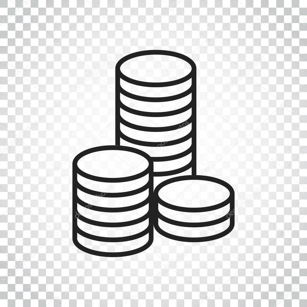 Munzen Stapeln Vektor Illustration Geld Gestapelten