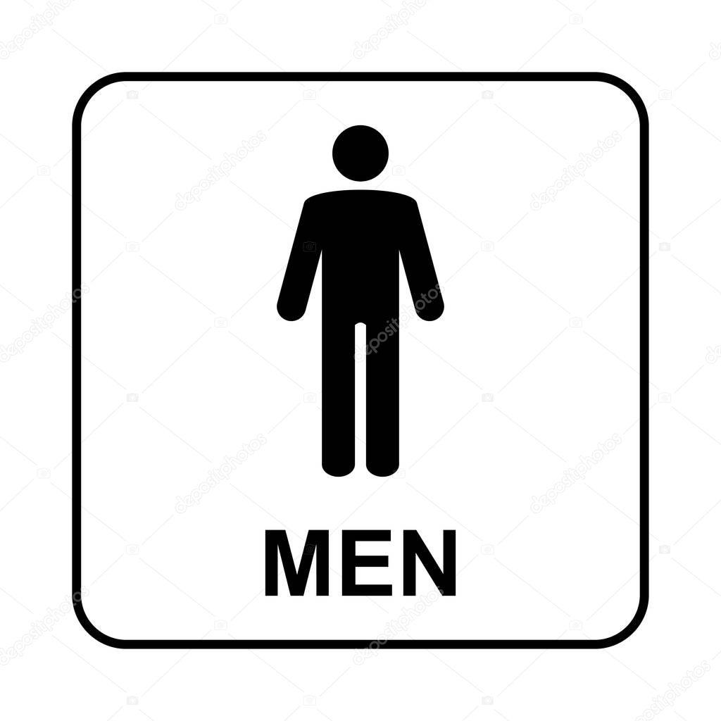 Toilet sign. WC men — Stock Vector © bumerSS #174068854