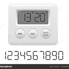Digital Kitchen Timers Side Table 矢量图的数字厨房计时器 图库矢量图像 C Blackpencil 152450154 图库矢量图片