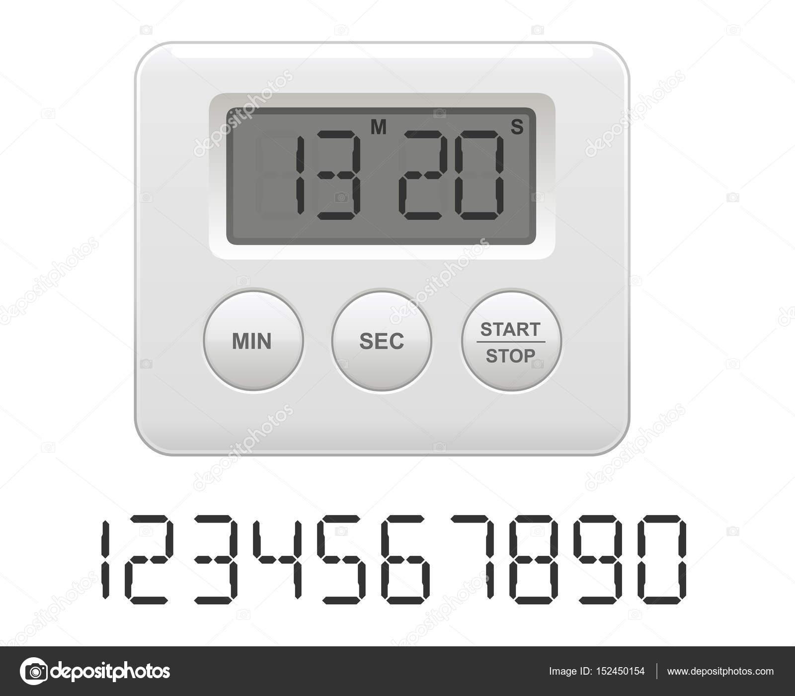 digital kitchen timers light fixtures flush mount 矢量图的数字厨房计时器 图库矢量图像 c blackpencil 152450154 图库矢量图片