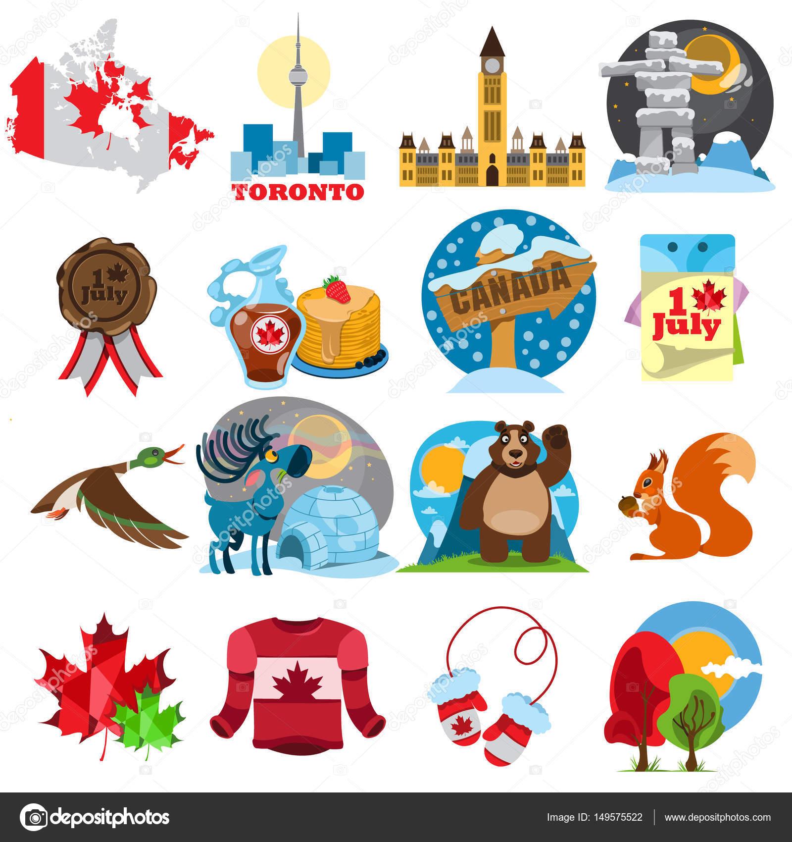 Conjunto De Simbolos Do Canada
