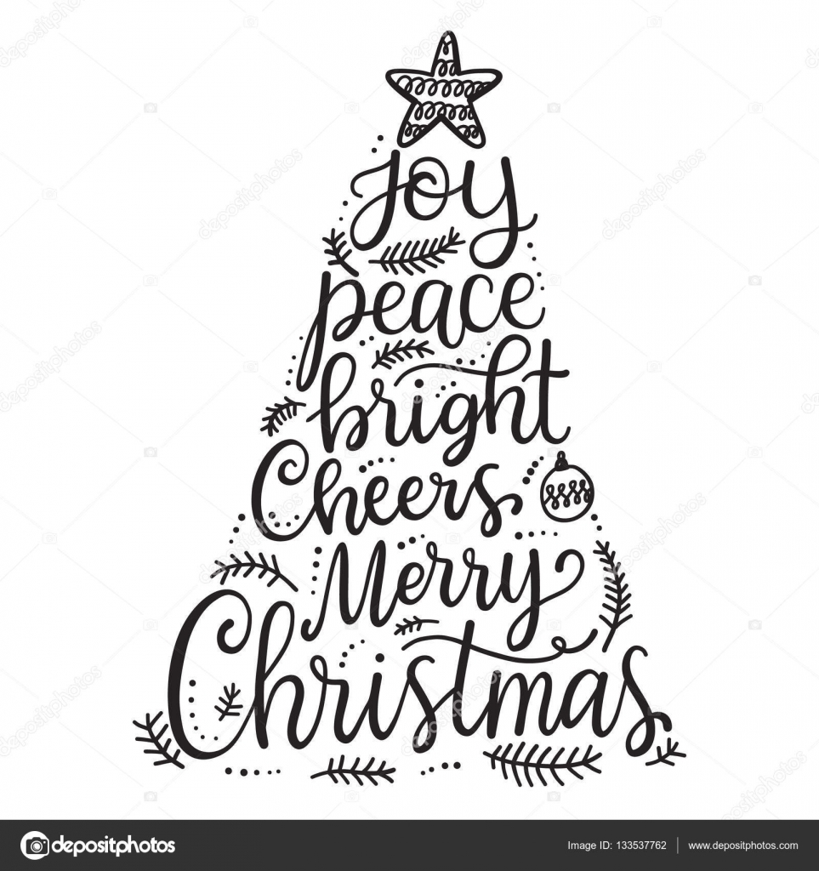 merry christmas phrases stock