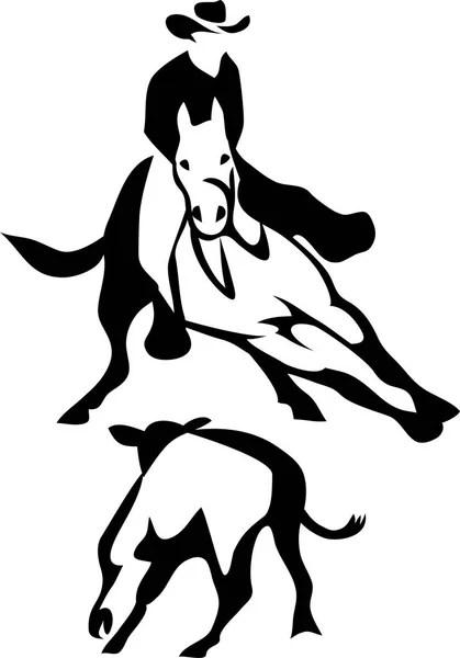 Little girl riding horse — Stock Vector © insima #22706433