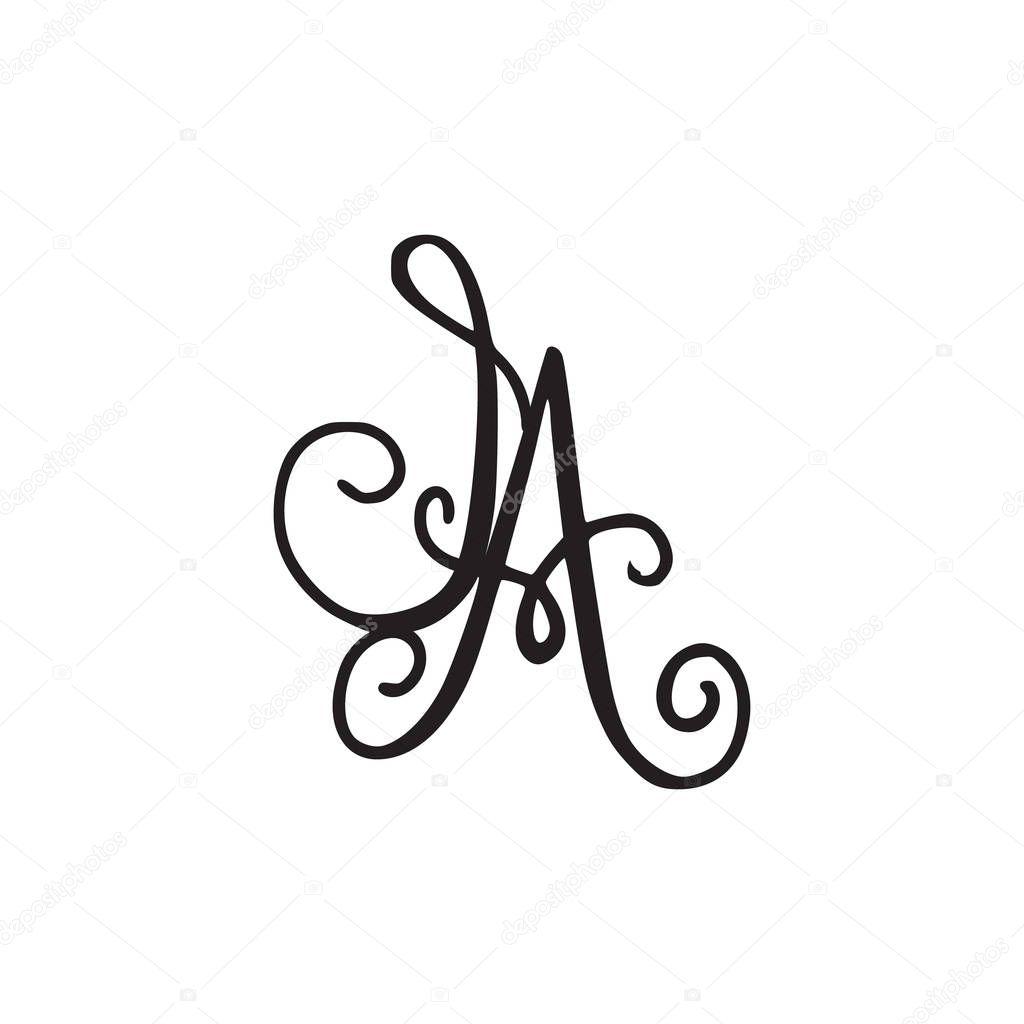Handwritten Monogram Ia Icon