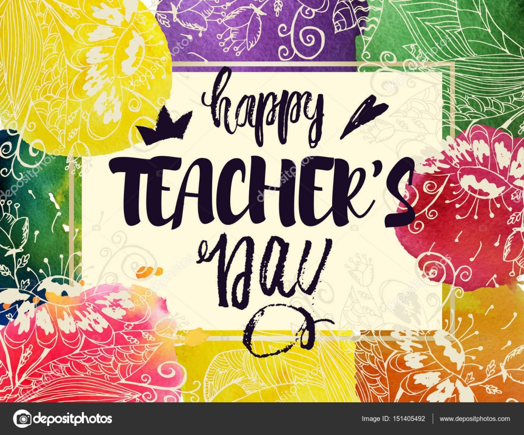Happy Teacher S Day Greeting Card Frame With