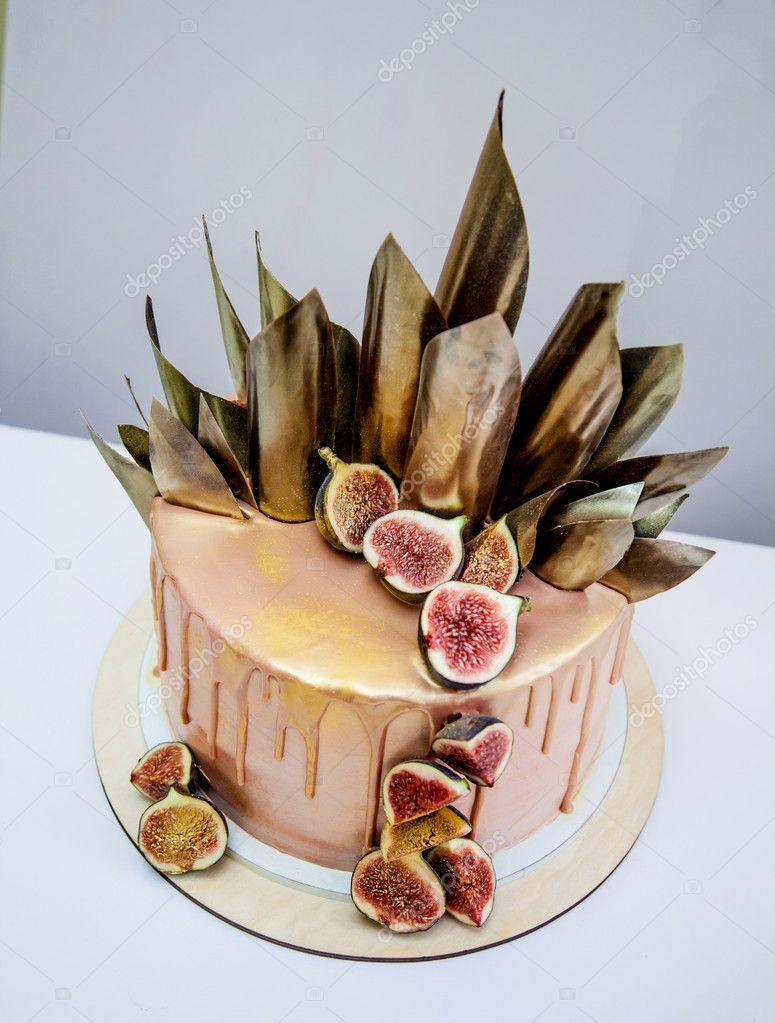 Autumn Background Birthday Black Cake Celebration Chocolate