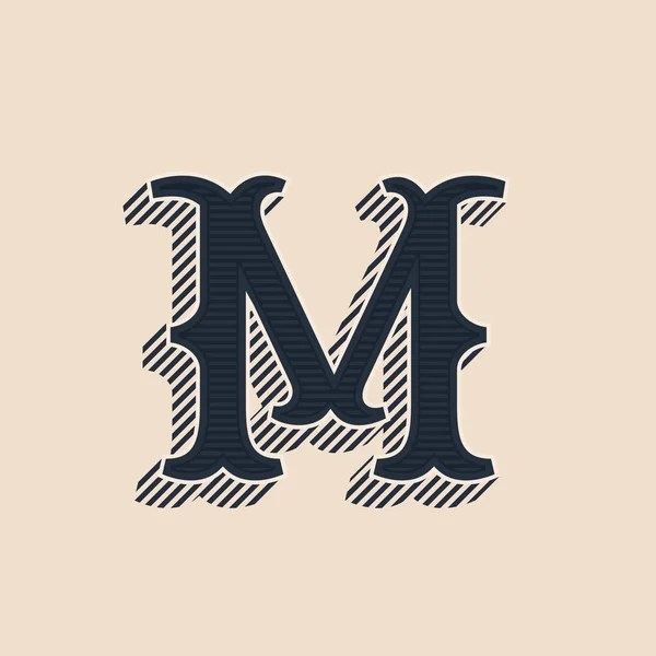 la lettera m stile vintage  Vettoriali Stock  Vanzyst
