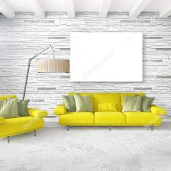 Minimal Sofa Design 32 High Table White Bedroom Style Interior With Wood Wall And Grey 3d Rendering