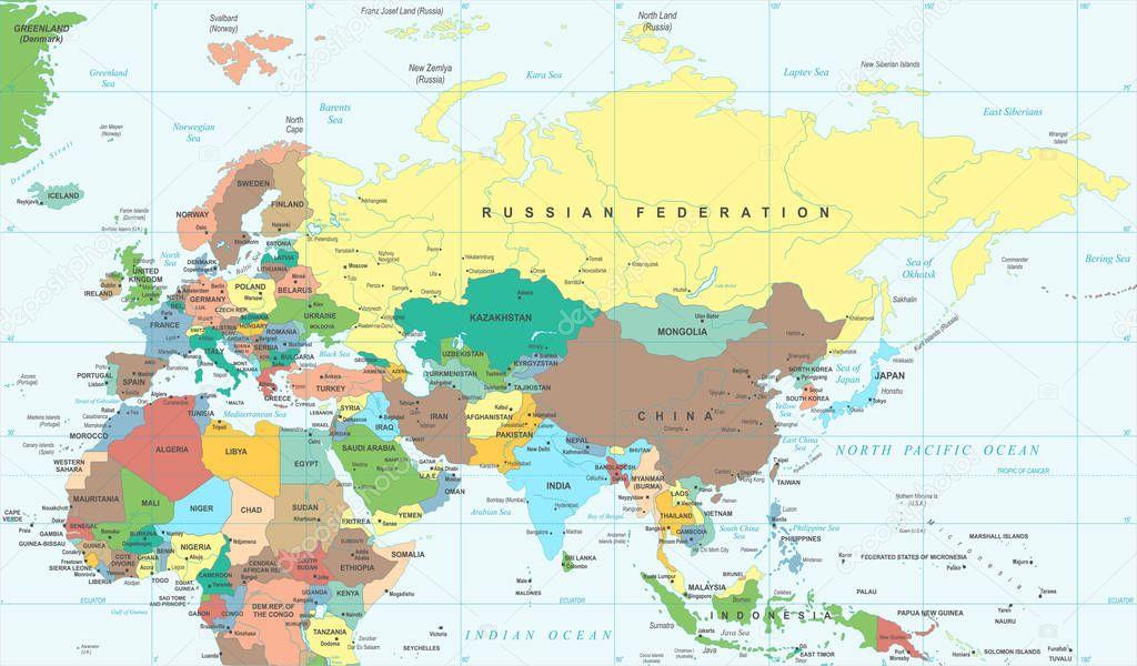 ユーラシア大陸ヨーロッパ ロシア中國インド インドネシア ...