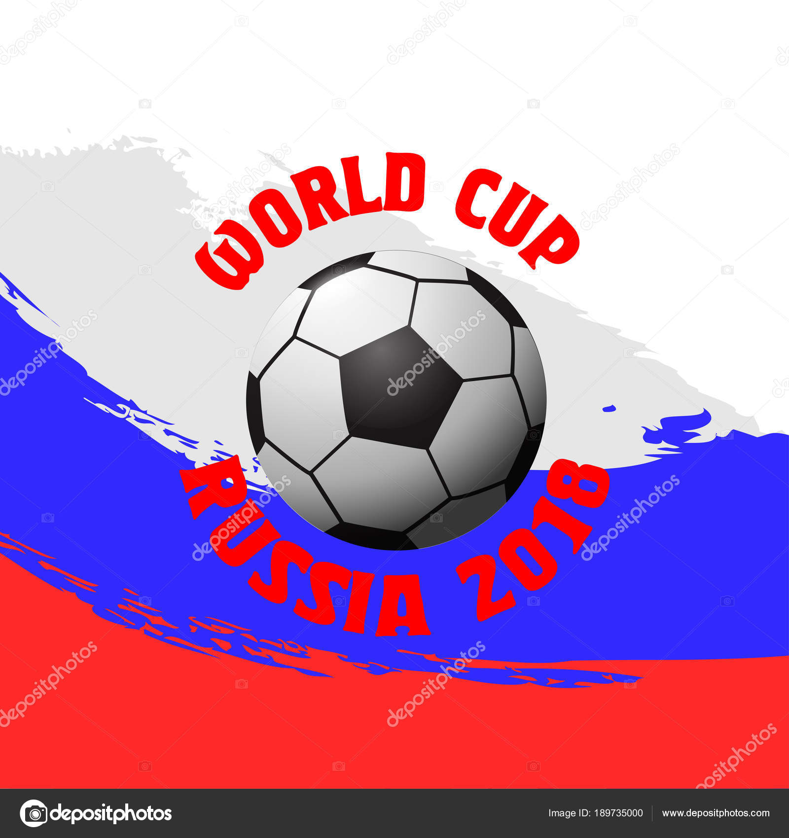 Design For Football World Cup 2018. Soccer Championship Badge, Flyer  Template. Vector Illustration. — Vector By Mas0380