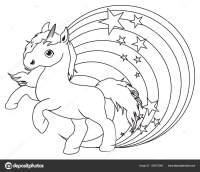 disegni da colorare piccolo unicorno carino  Foto Stock ...