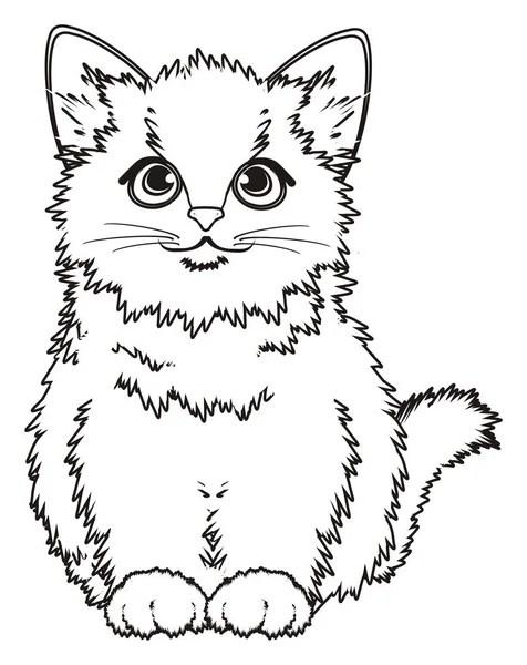 piccolo gattino da colorare — Foto Stock © tatty77tatty
