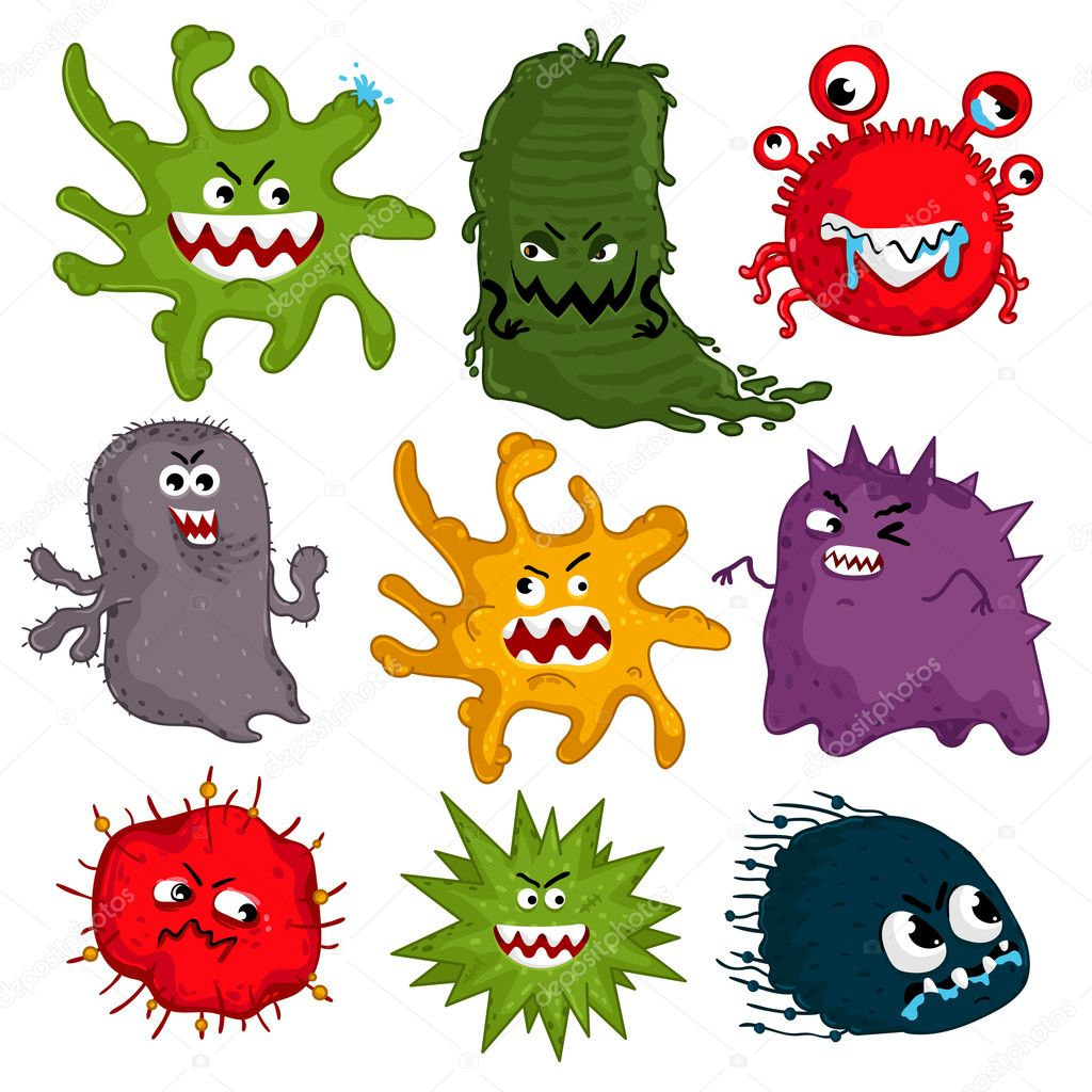 Bacteria Cartoon Funny