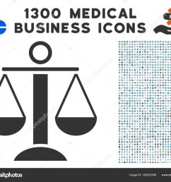 scales balance icon with 1300 medical business icons stock vector [ 1024 x 832 Pixel ]