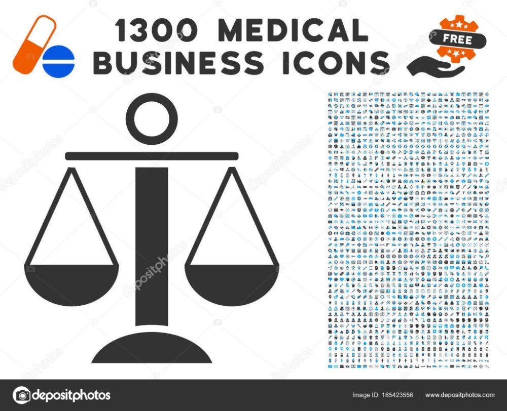medium resolution of scales balance icon with 1300 medical business icons stock vector