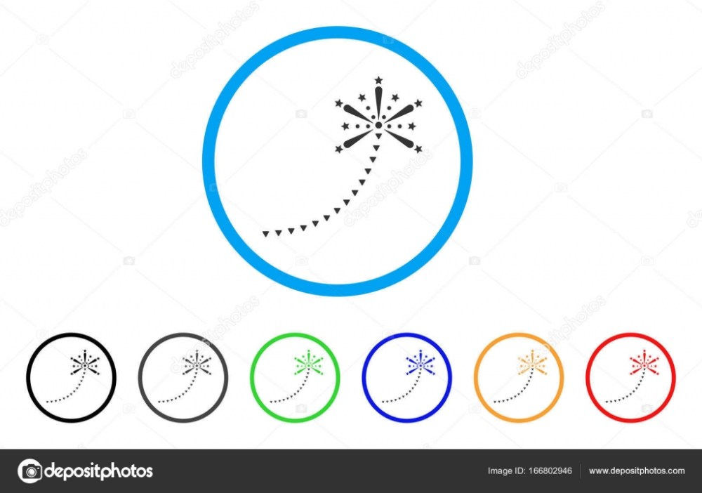 medium resolution of salute fireworks trace rounded icon style is a flat salute fireworks trace grey symbol inside light blue circle with black gray green blue red
