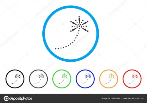 small resolution of salute fireworks trace rounded icon style is a flat salute fireworks trace grey symbol inside light blue circle with black gray green blue red