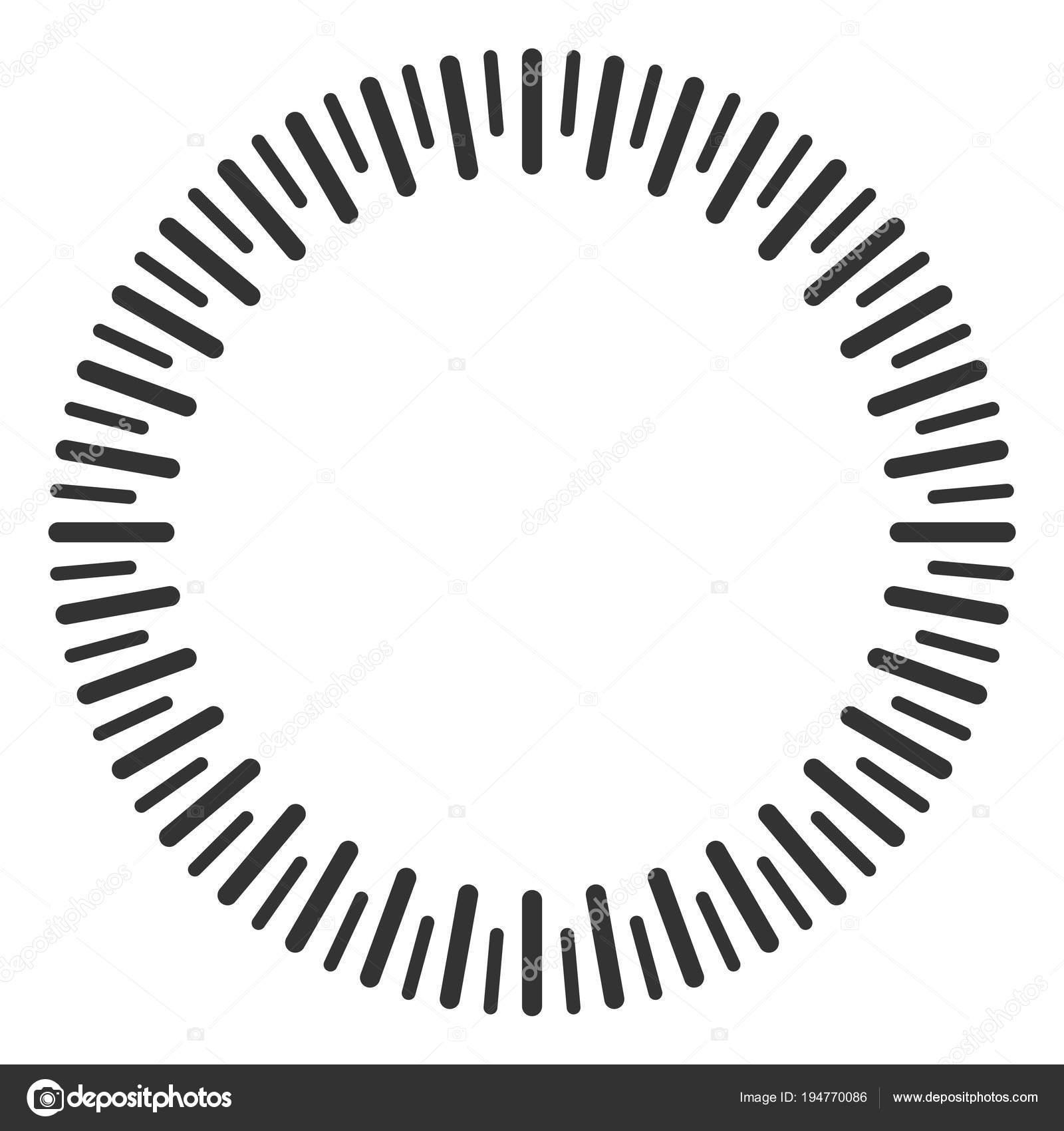 Circular Ruler Vector Illustration