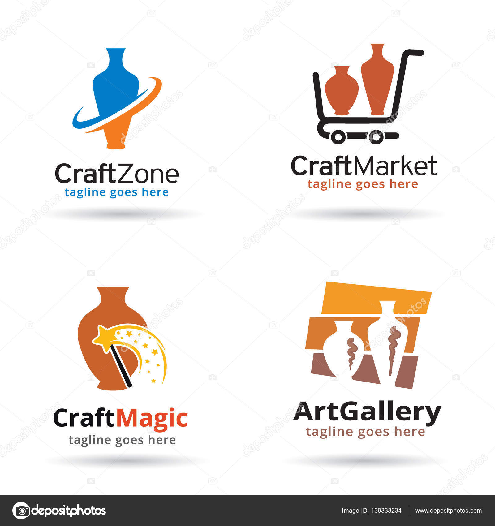 Craft Logo Design Craft Logo Template Design Stock Vector C Gunaonedesign 139333234