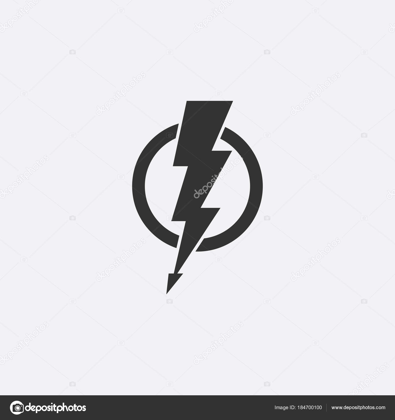 Lightning Electric Power Vector Icon Design Element
