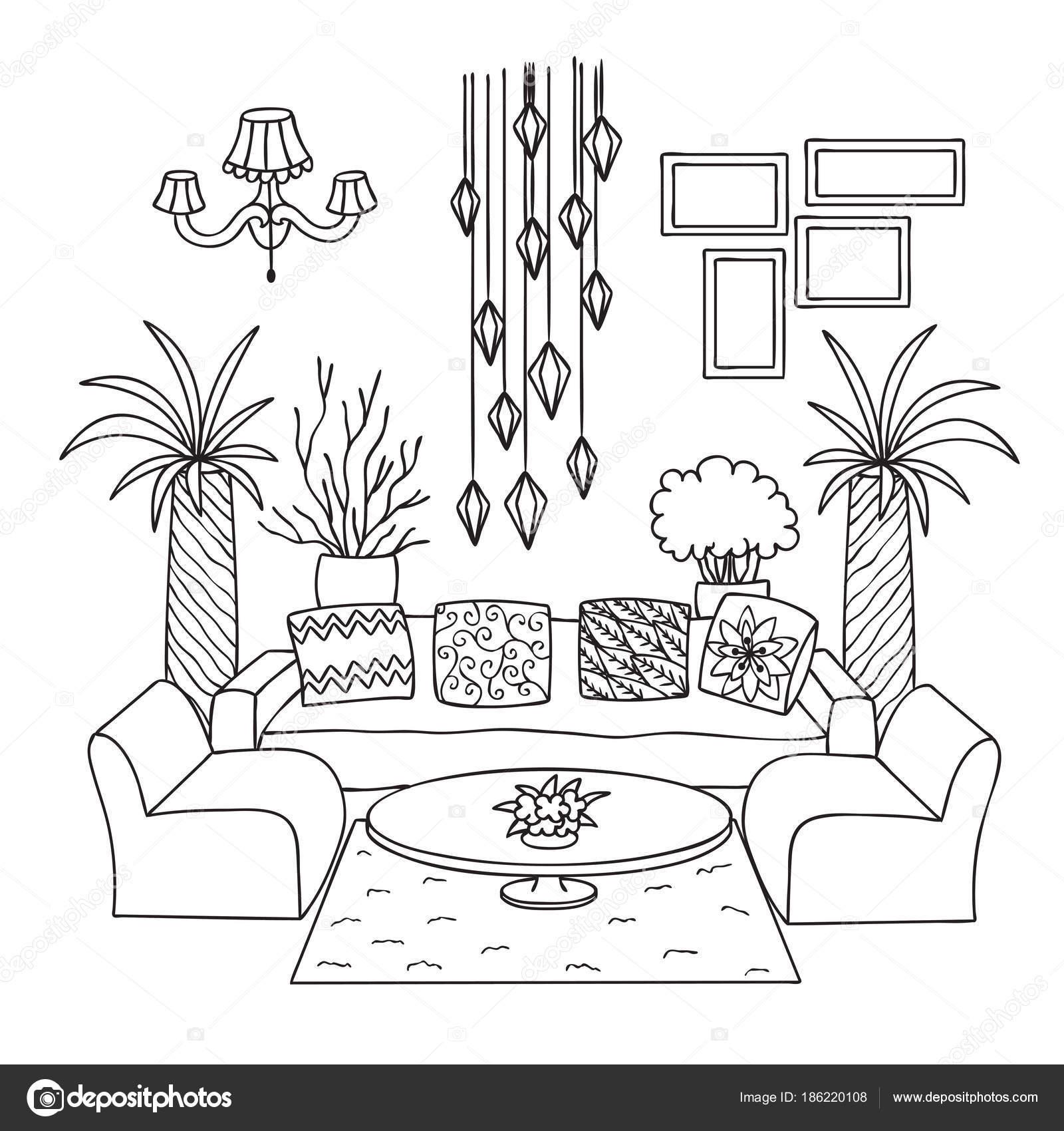 Malvorlagen Wohnzimmer Coloring and Malvorlagan