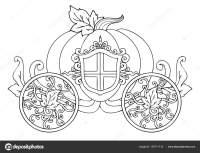 Mano Disegnato Carrozza Zucca Con Ornamento Isolato Bianco ...