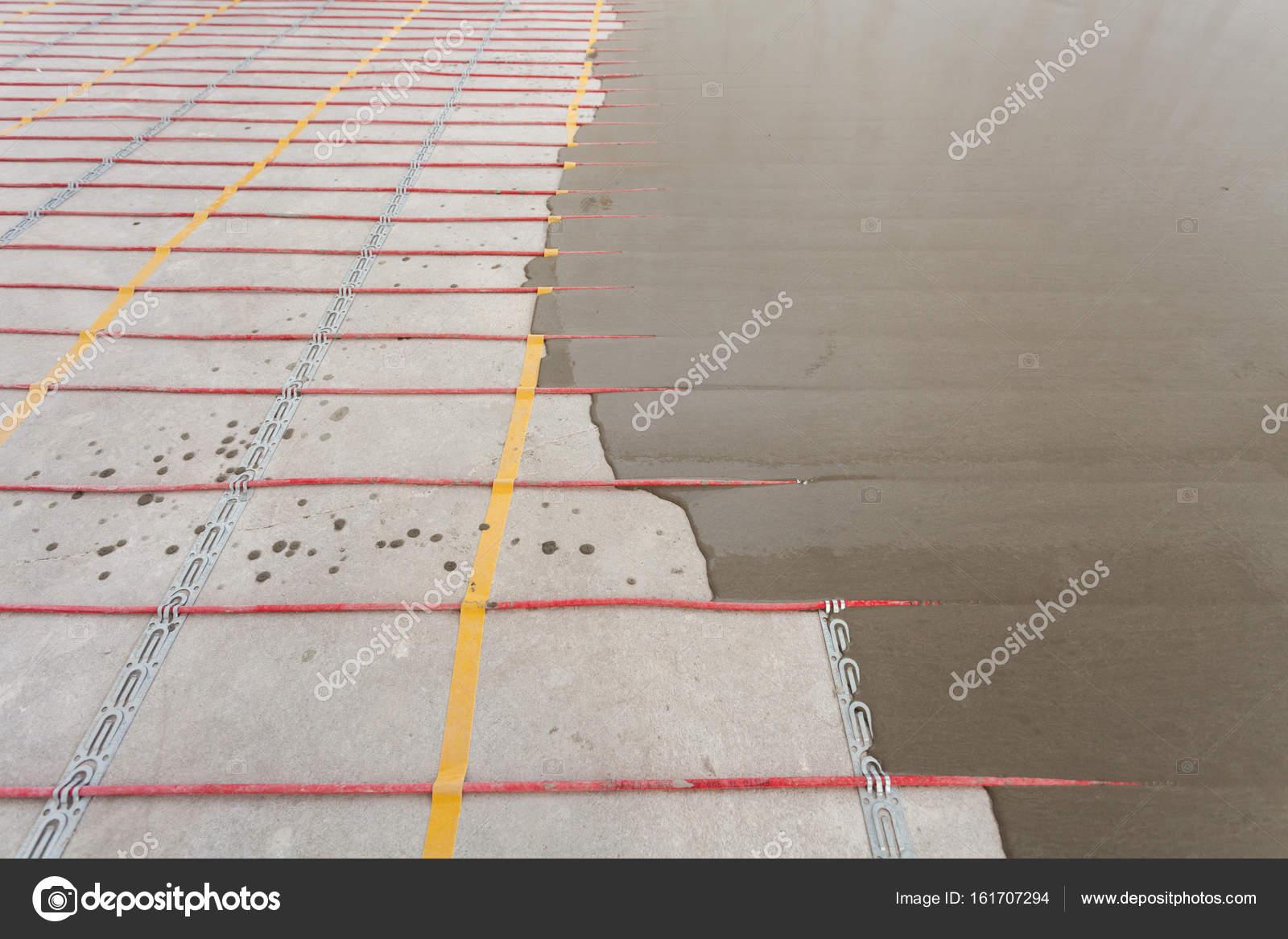 Elektrische Fußbodenheizung System-Installation Im Neuen Haus