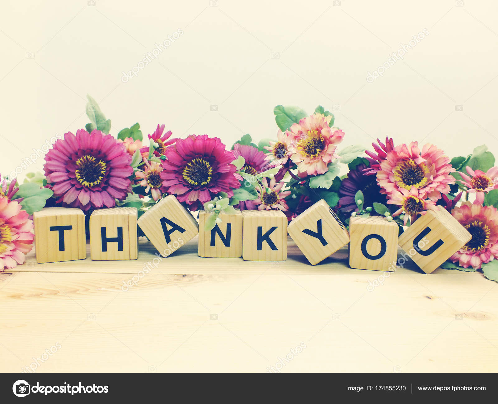 Danke Knstlichen Blumen Blumenstrau Schriftzug