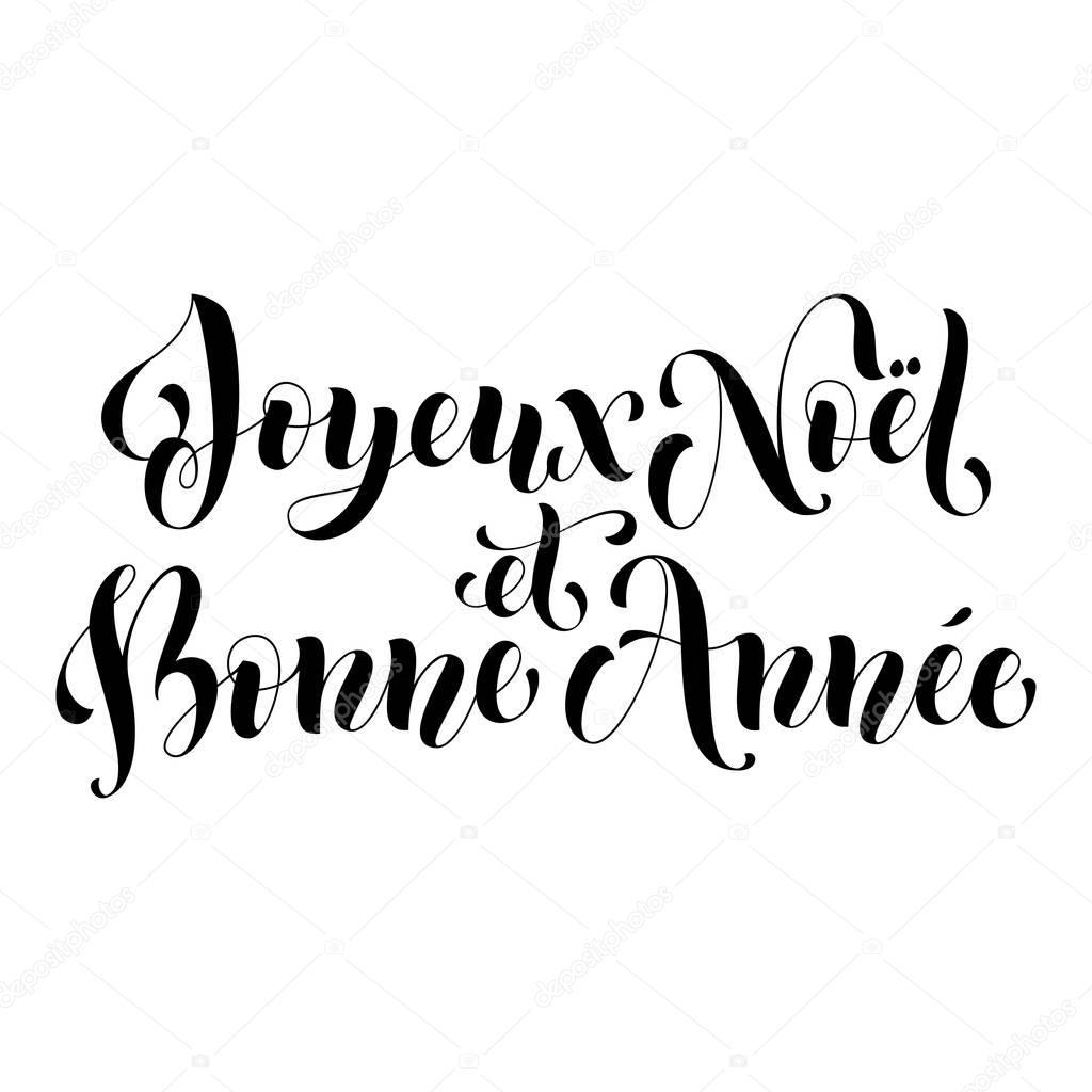 Joyeux Noel Bonne Annee Tarjeta De Felicitacion Francesa