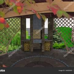 Outdoor Kitchen Patio Ideas Rv Sinks 户外厨房露台想法 3d 渲染 图库照片 C Threedicube 144020043