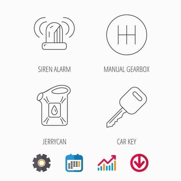 Icona di cambio manuale. Segno di trasmissione auto