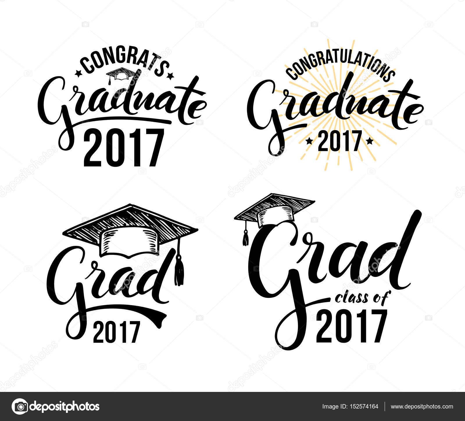 Set of graduation labels — Stock Vector © ol4i.chiffa