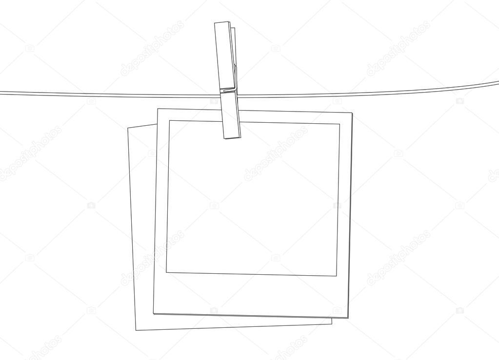 Polaroid Instant photo film template in vector format