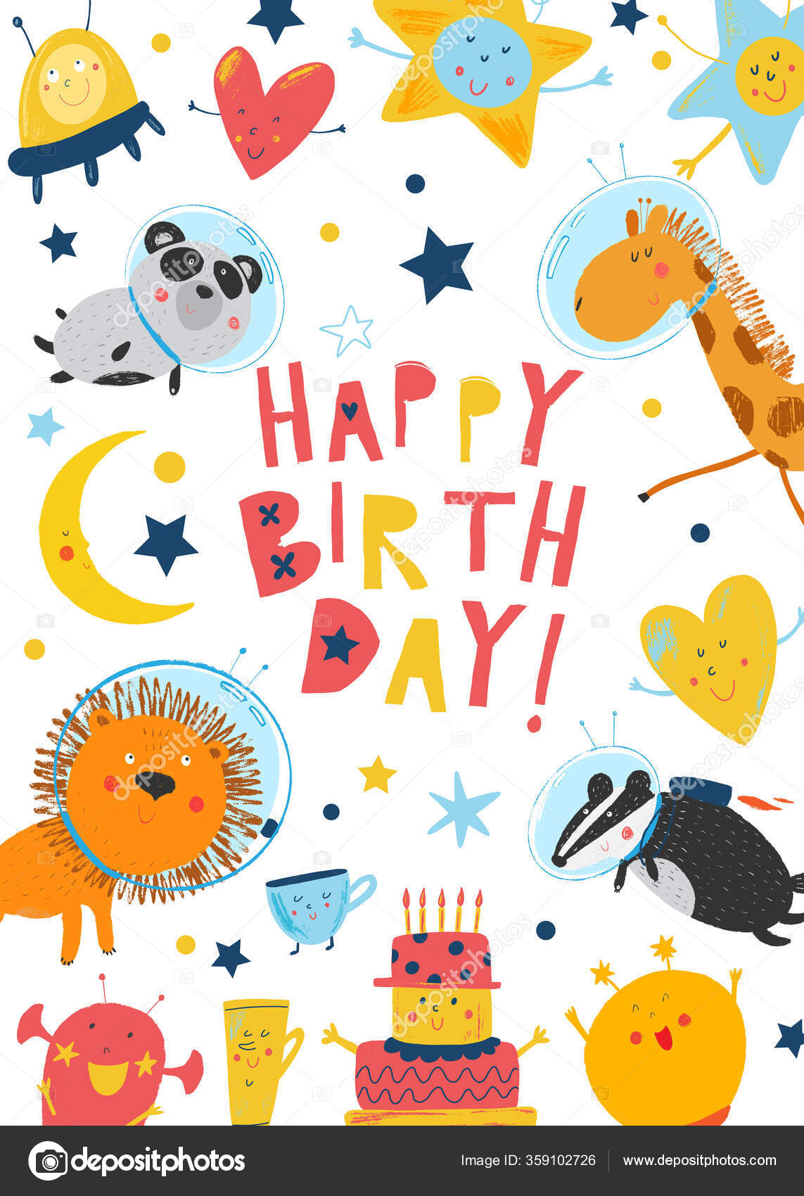 https depositphotos com 359102726 stock illustration vector happy birthday invitation card html