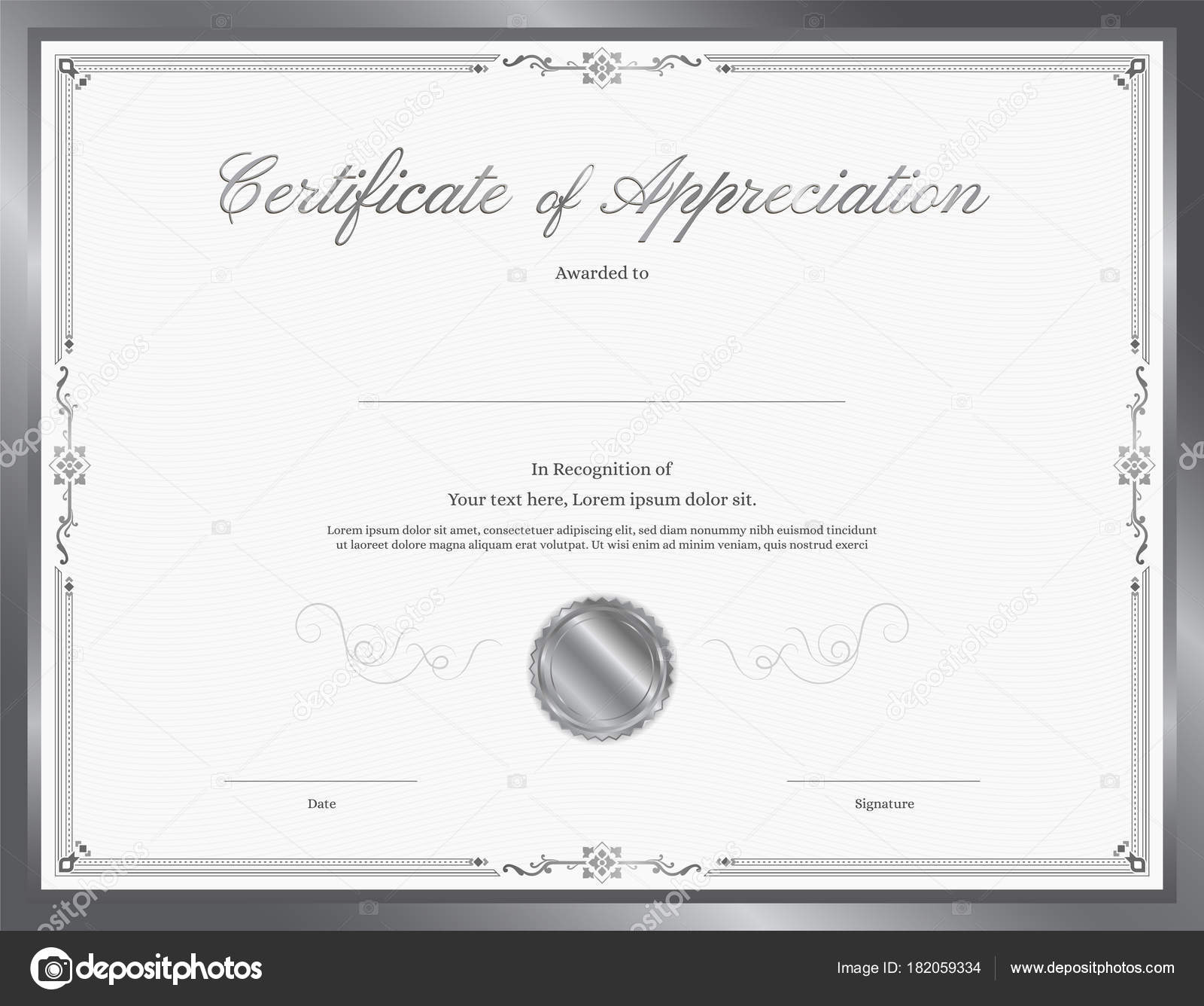 Luxury certificate template with elegant border frame