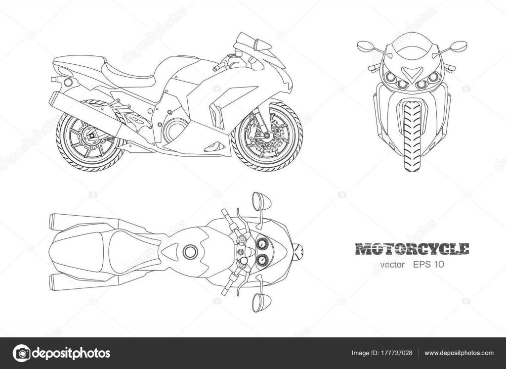 Iictures Motor Bike Drawing