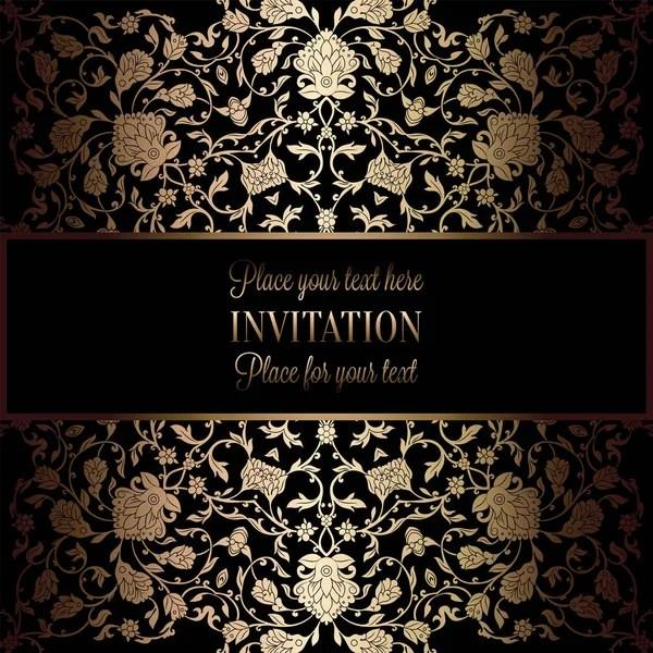 abstract achtergrond met antieke luxe zwart en goud