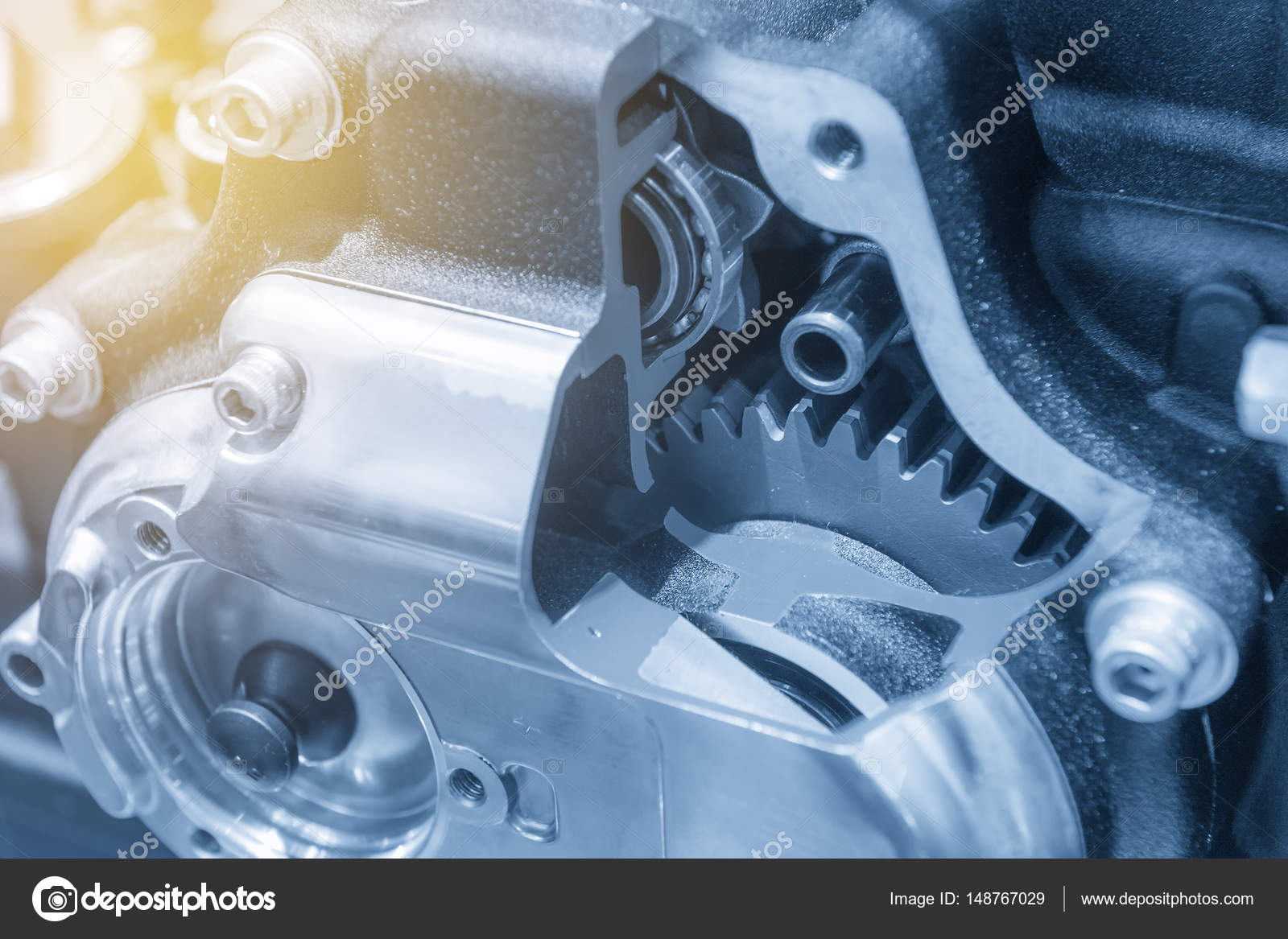 hight resolution of the motorcycle gear box stock photo