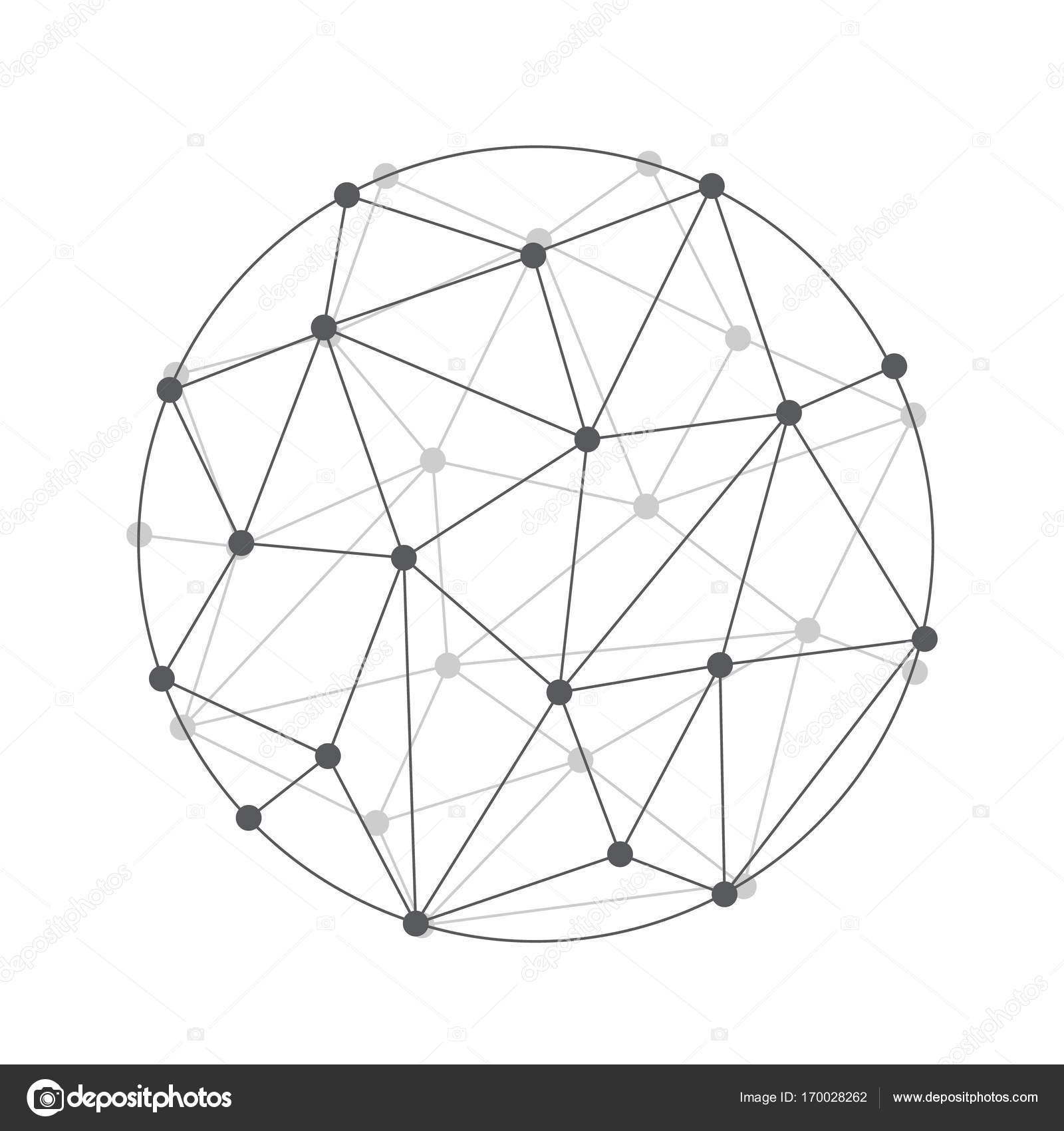 sphere polygon wireframe 3d