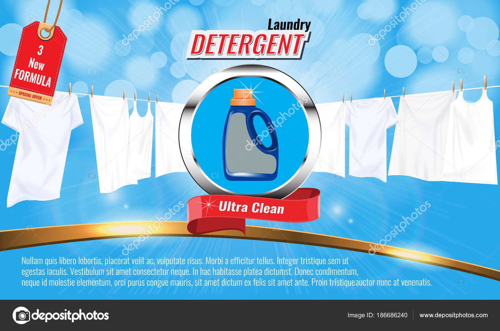 laundry detergent ads template
