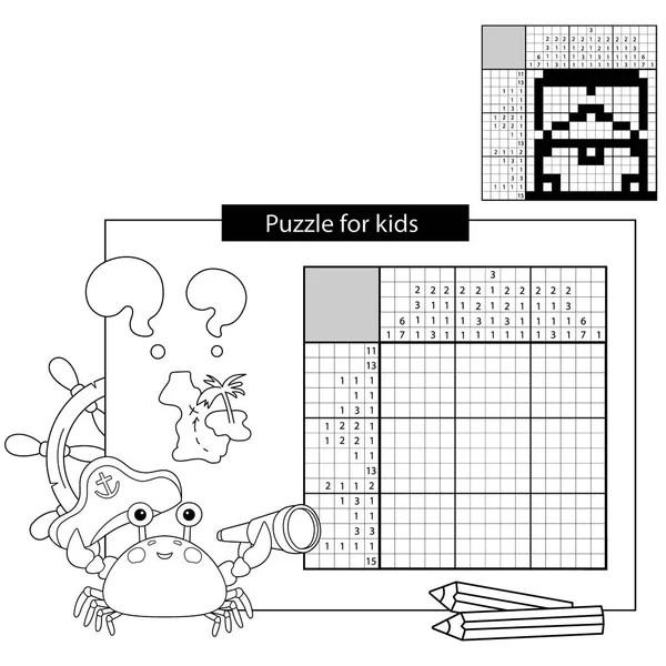 Boyama kitabı yengeç karikatür eğitim Stock Vectors
