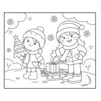 Imgenes: borde navidad colorear   rbol de Navidad con ...