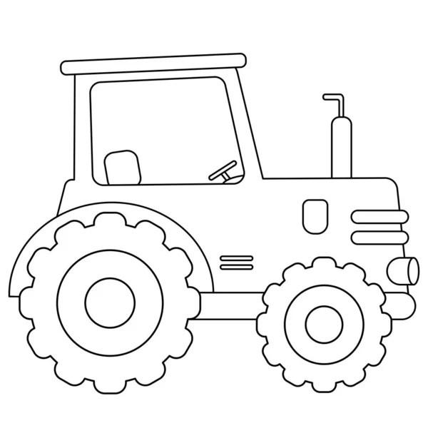 Farbbild eines Cartoon-Traktors auf weißem Hintergrund