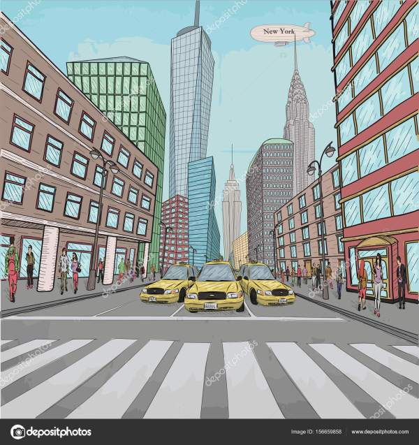 New York Vector City Landscapes