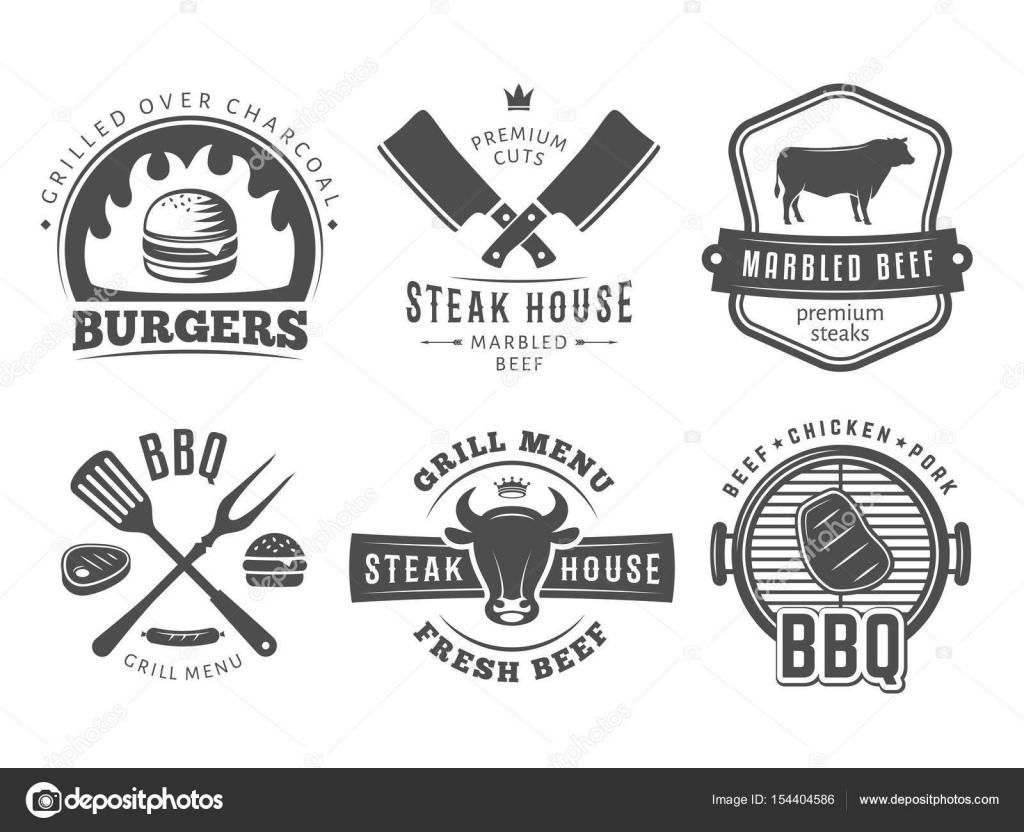 Bbq Burger Grill Badges