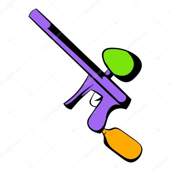 Desenho De Cone Arma Paintball Vetor Stock