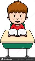 Desk Student Cartoon