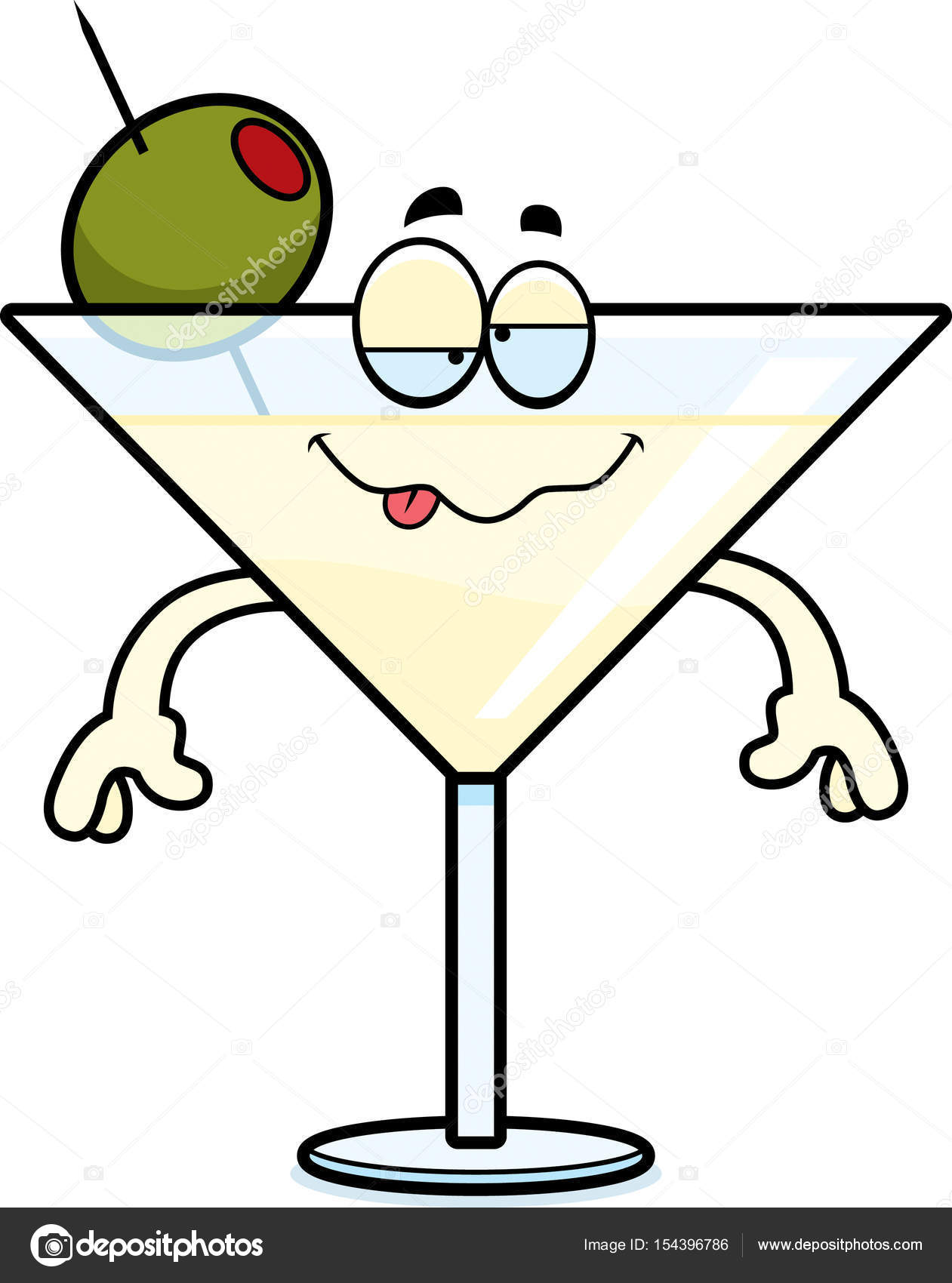 hight resolution of a cartoon illustration of a martini looking drunk vector by cthoman