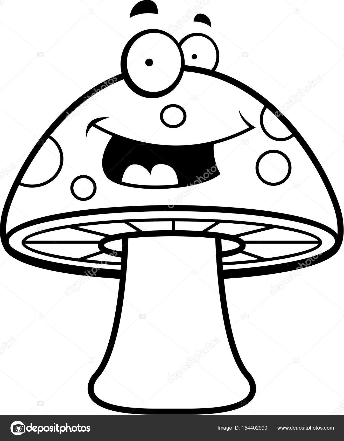Cartoon Magic Mushroom — Stock Vector © cthoman #154402990