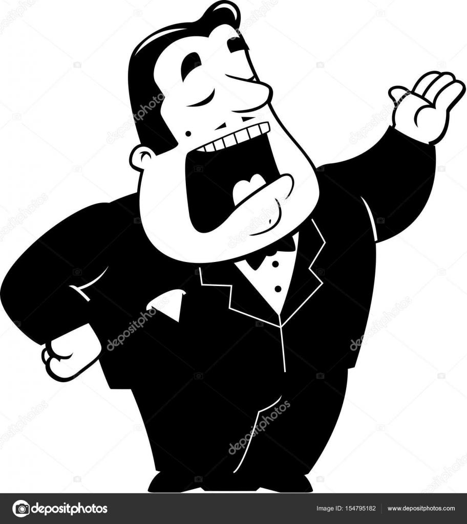 medium resolution of a cartoon illustration of an opera singer singing vector by cthoman